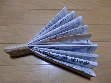 新聞紙のハリセン|簡単手作りお...