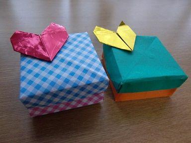 ハート 折り紙 折り紙 入れ物 簡単 : toy7.net