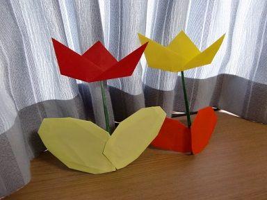 ハート 折り紙 折り紙 チューリップ 作り方 : toy7.net